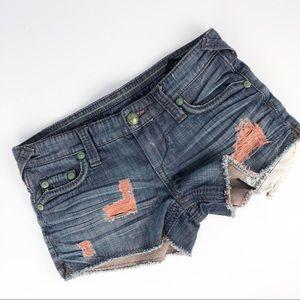 Stitch's Black Label Denim Raw Hem Shorts